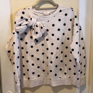 Kate Spade ♠️ polka dot sweat shirt